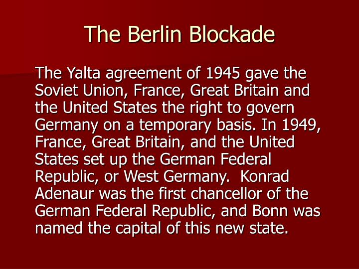 The berlin blockade1