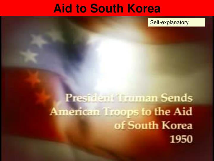 Aid to South Korea