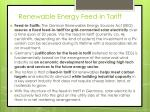 renewable energy feed in tariff