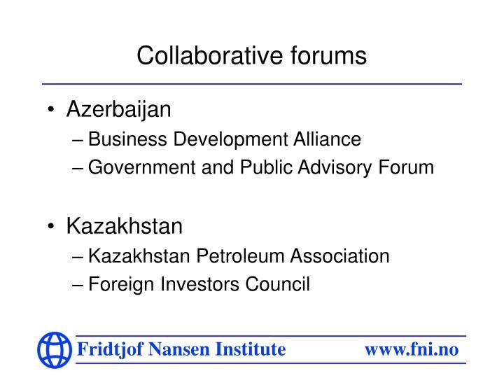 Collaborative forums