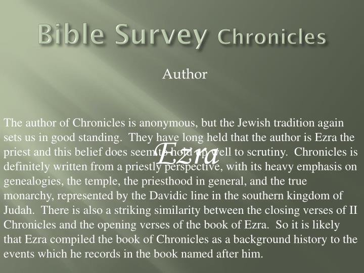 Bible survey chronicles1