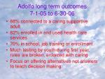 adolfo long term outcomes 7 1 05 to 6 30 06