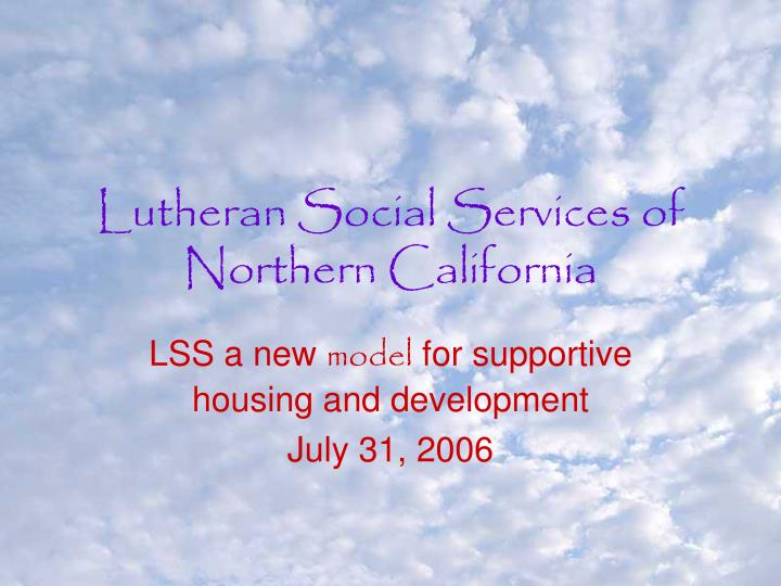 lutheran social services of northern california n.