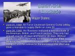 berlin airlift blockade