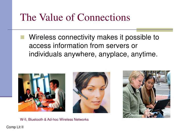 The Value of Connections
