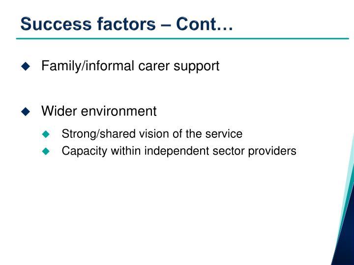 Success factors – Cont…