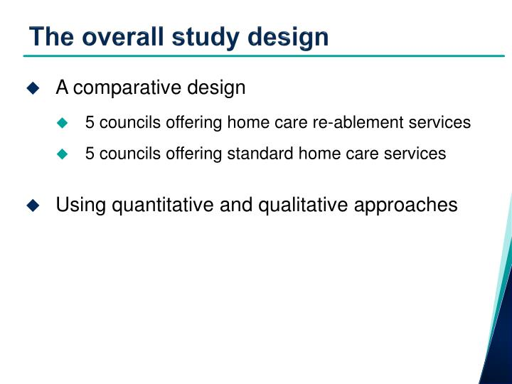 The overall study design