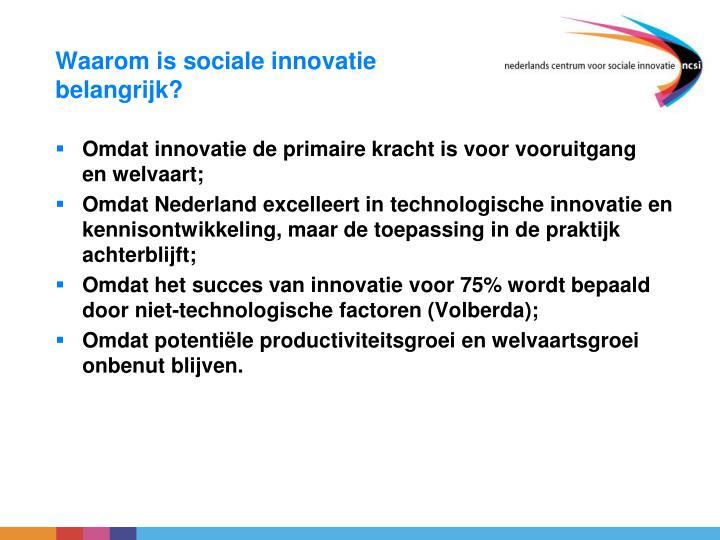 Waarom is sociale innovatie