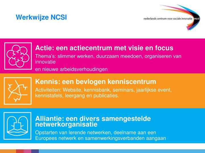Actie: een actiecentrum met visie en focus