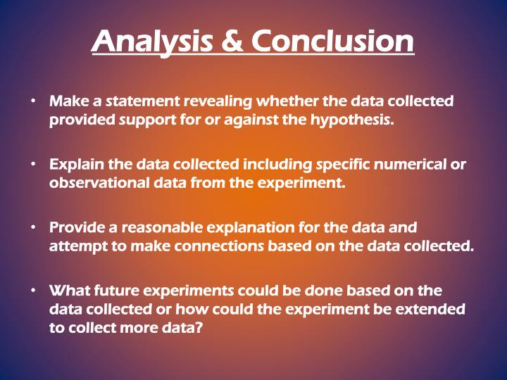 Analysis & Conclusion