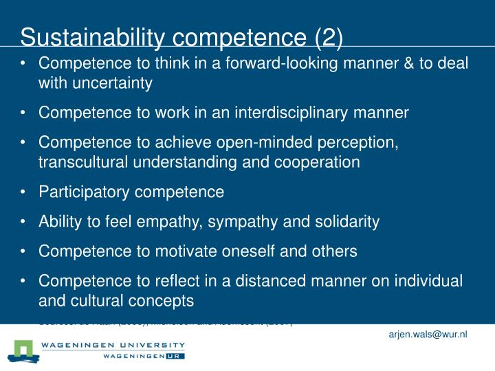 Sustainability competence (2)