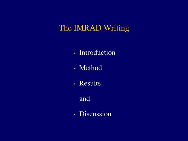The imrad writing