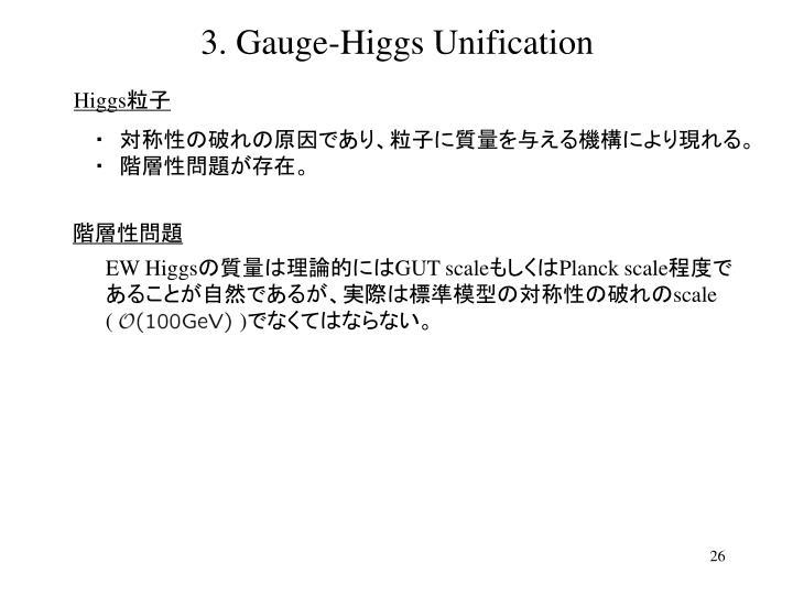3. Gauge-Higgs Unification