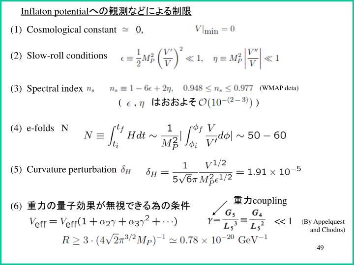 Inflaton potential