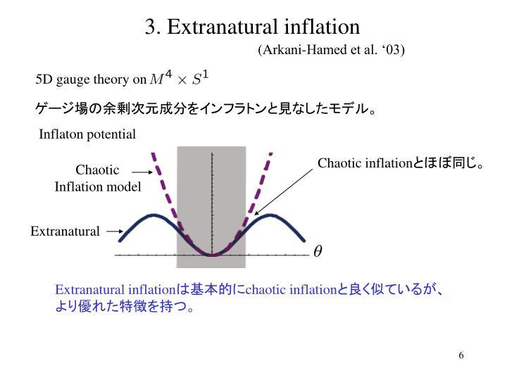 3. Extranatural inflation