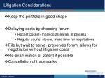 litigation considerations