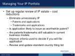 managing your ip portfolio