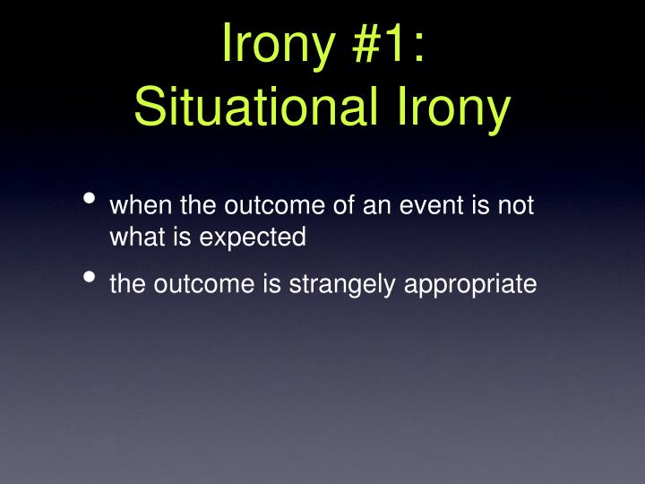 what is an example of situational irony