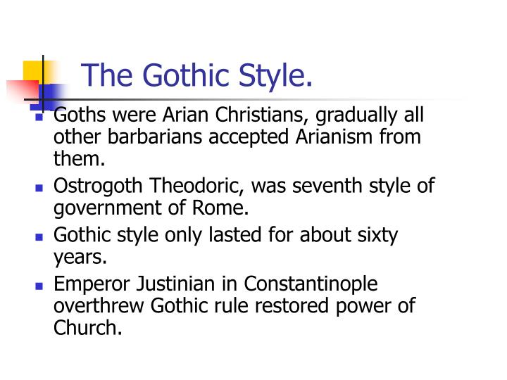 the gothic style n.