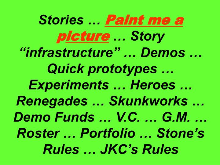 Stories …