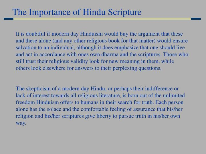The Importance of Hindu Scripture