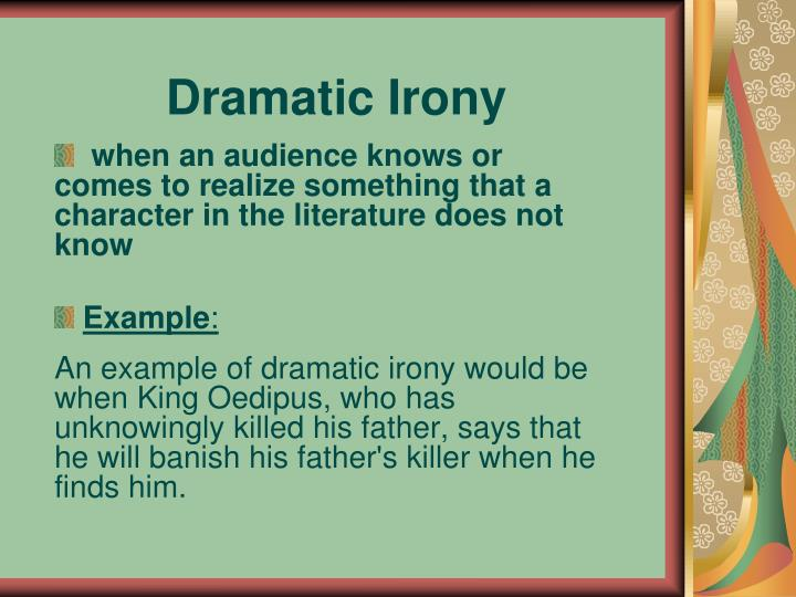 examples of situational irony in oedipus rex