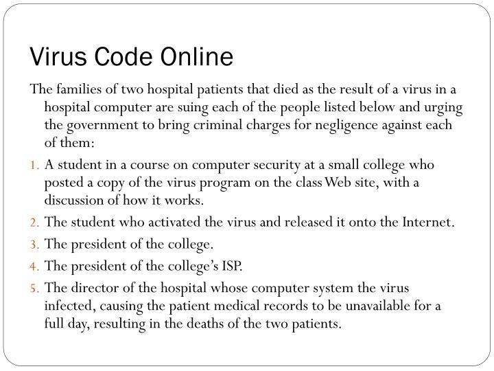 Virus Code Online