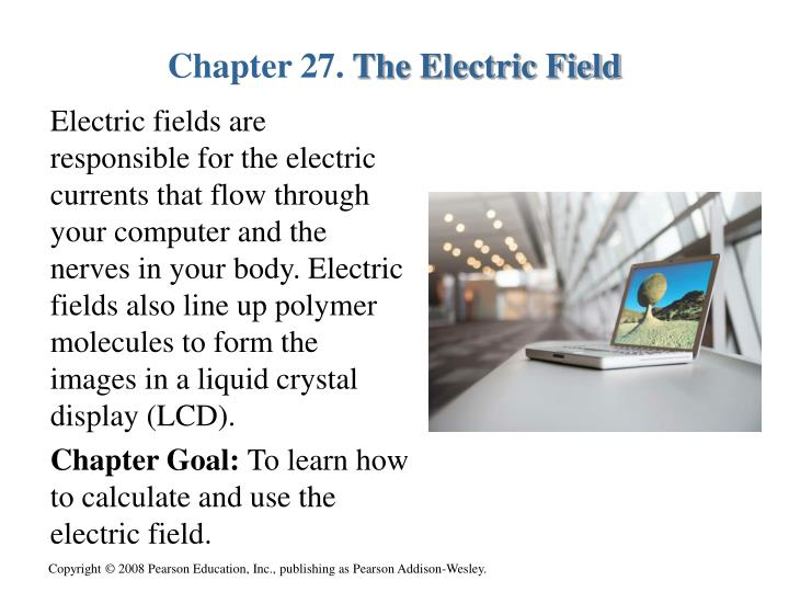 chapter 27 the electric field n.