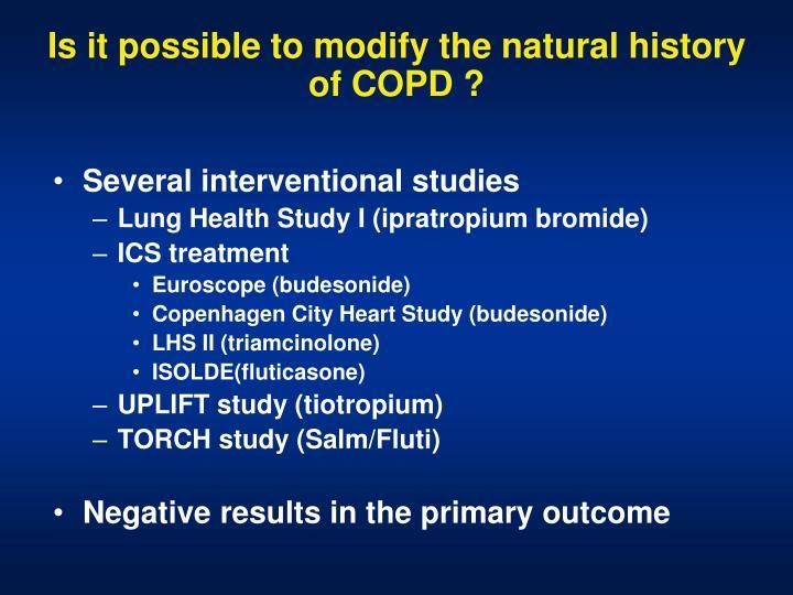 Several interventional studies
