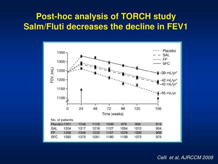 Post-hoc analysis of TORCH study