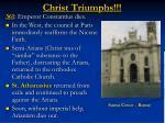 christ triumphs