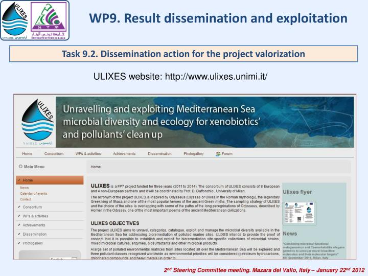 WP9. Result dissemination and exploitation