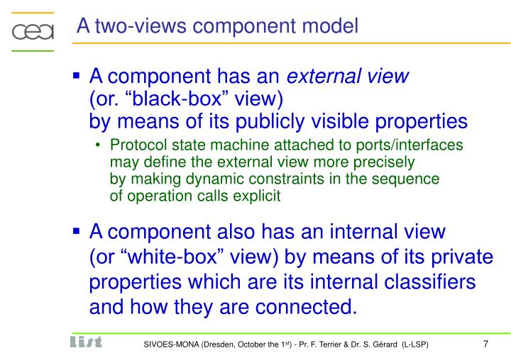 A two-views component model