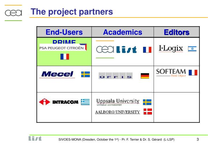 The project partners
