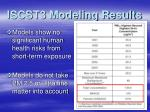 iscst3 modeling results