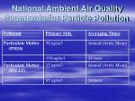 national ambient air quality standards for particle pollution