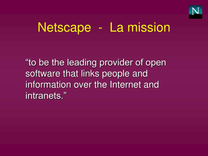 Netscape  -  La mission