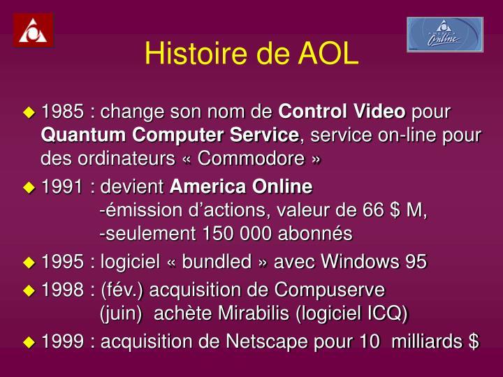 Histoire de AOL