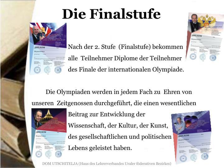 Die Finalstufe