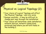 physical vs logical topology 2