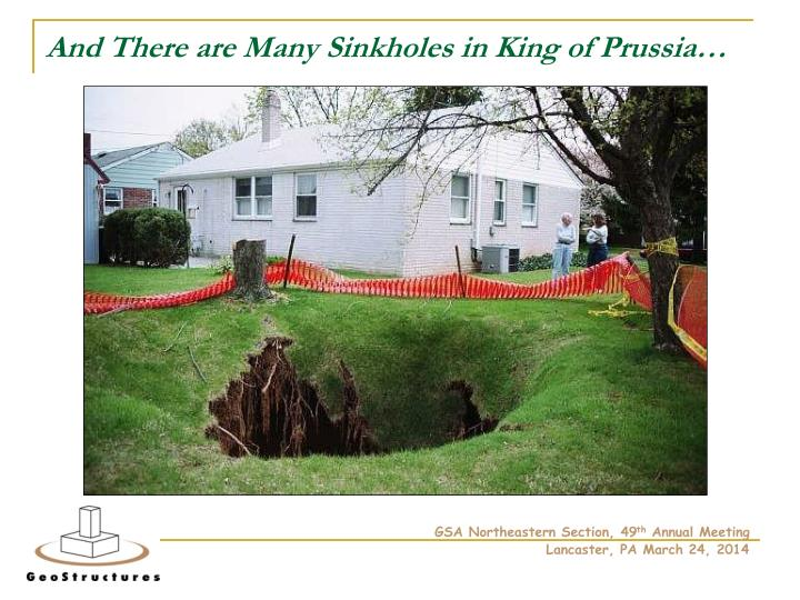And There are Many Sinkholes in King of Prussia…