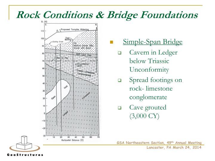Rock Conditions & Bridge Foundations