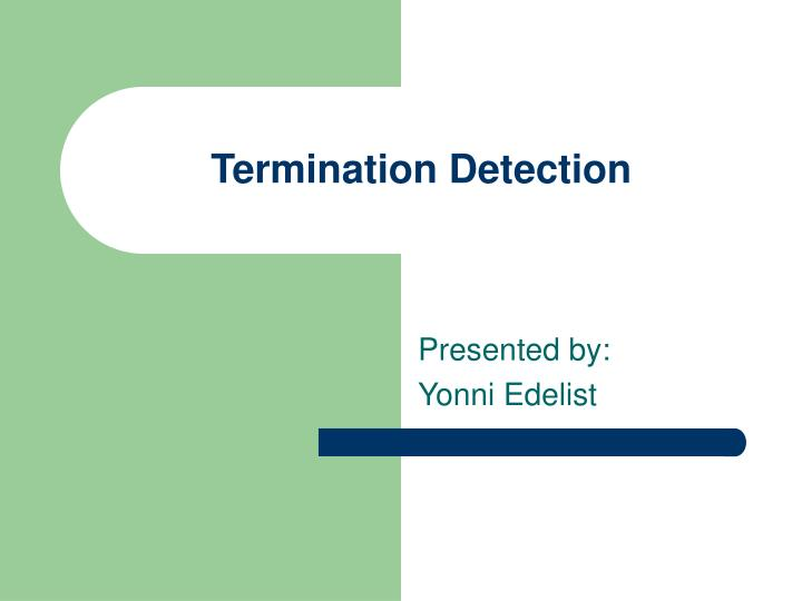 termination detection n.