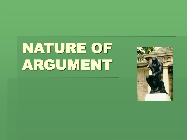 nature of argument n.