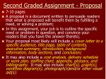second graded assignment proposal