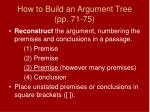 how to build an argument tree pp 71 75