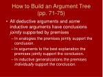 how to build an argument tree pp 71 752