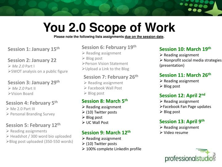 You 2.0 Scope of Work
