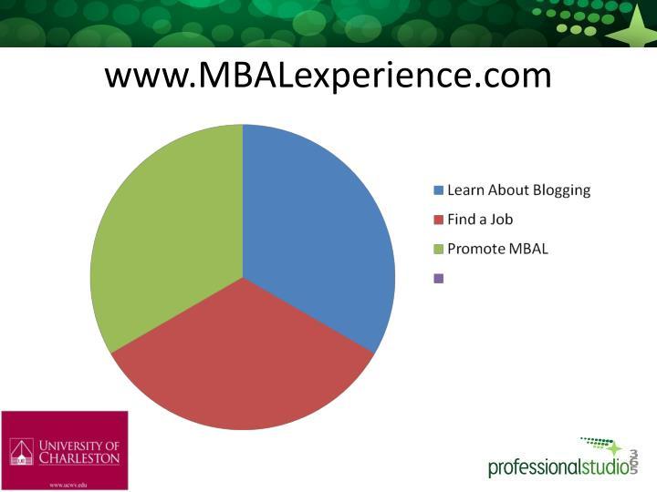 www.MBALexperience.com
