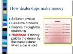 how dealerships make money